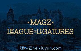 一种现代几何构造的平板衬线字体 Magz Slab #3263459
