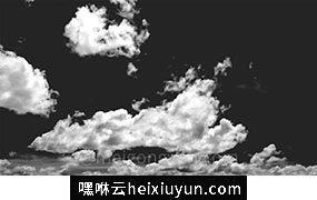 一组高清云彩素材 Black & White Sky Backgrounds