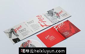 数码光盘音乐光碟CD设计品牌包装提案样机PSD模板素材 6 panel digipack mockup
