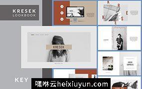 高级灰时尚现代专业主题Kresek Lookbook #342687