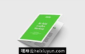 双折页贴图展示模版 Bi Fold Leaflet Vol.054