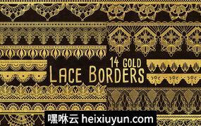 花边边框剪贴画Gold Clip Art – Lace Border Clipart #235895