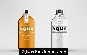 透明玻璃瓶样机设计模板Glass Bottle Mock-up  #3552637