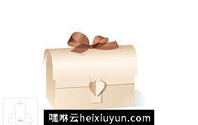 方包礼品盒模切图/刀模图EPS源文件