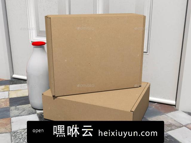 嘿咻云-Subscription Box Mock-Up飛機盒設計模型