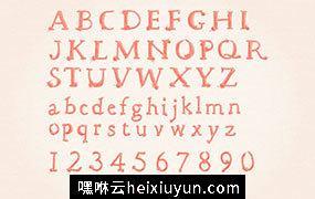四色水彩卡通字母表 Watercolor Alphabet #26338