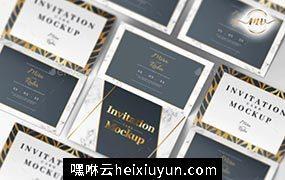 邀请函明信片贺卡样机模板Invitation Card Mockup #23643114
