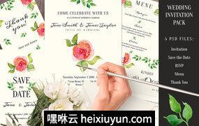 花卉邀请涵Wedding Invitation pack #293277