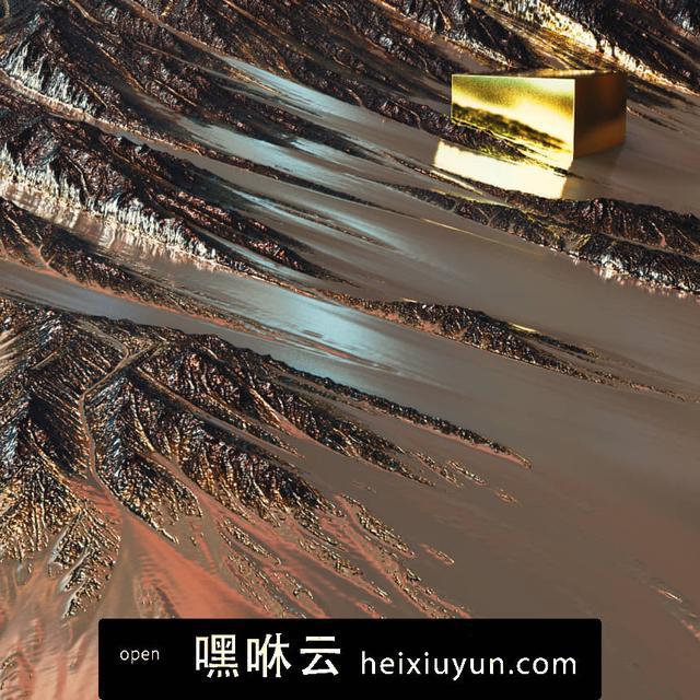 嘿咻云-[30-06-16] - Wingtip泥石流滑坡的金色盒子C4D动画工程文件分享