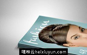 时尚杂志3D样机模板 Pile of Magazines Mock-up #17498