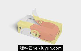 手抽纸巾盒包装设计样机Tissue Box #3513448