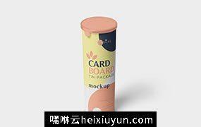 薯片零食纸筒包装样机模板Cardboard Tube  #3483314