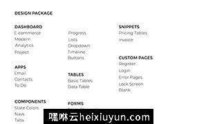 现代干净的网页管理后台界面 Sorento Dashboard UI Kit