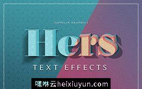 3D立体图层样式 Hers 3D Text Effects #2344987