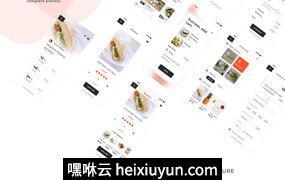 时尚餐厅外卖美食应用程序APP工具包Bakar UI Kit
