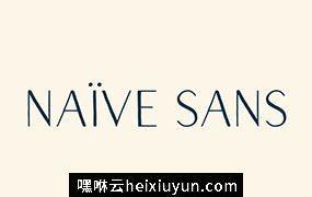 漂亮的字体 Naive Sans Font Pack #1303479