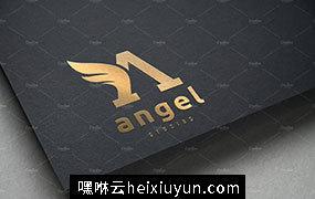 创意字母A标志Logo设计模板 Angel-Logo-Letter-A-logo-template #764375