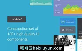 干净清新电子商务社交媒体音乐播放器统计分析移动UI工具包Module 01 UI Kit