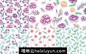 高分辨率粉色牡丹花卉剪贴画系列合集 Pink Peonies #234567