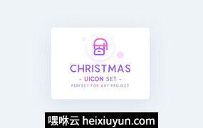 圣诞节冬季主题矢量图标集UICON Christmas Icons