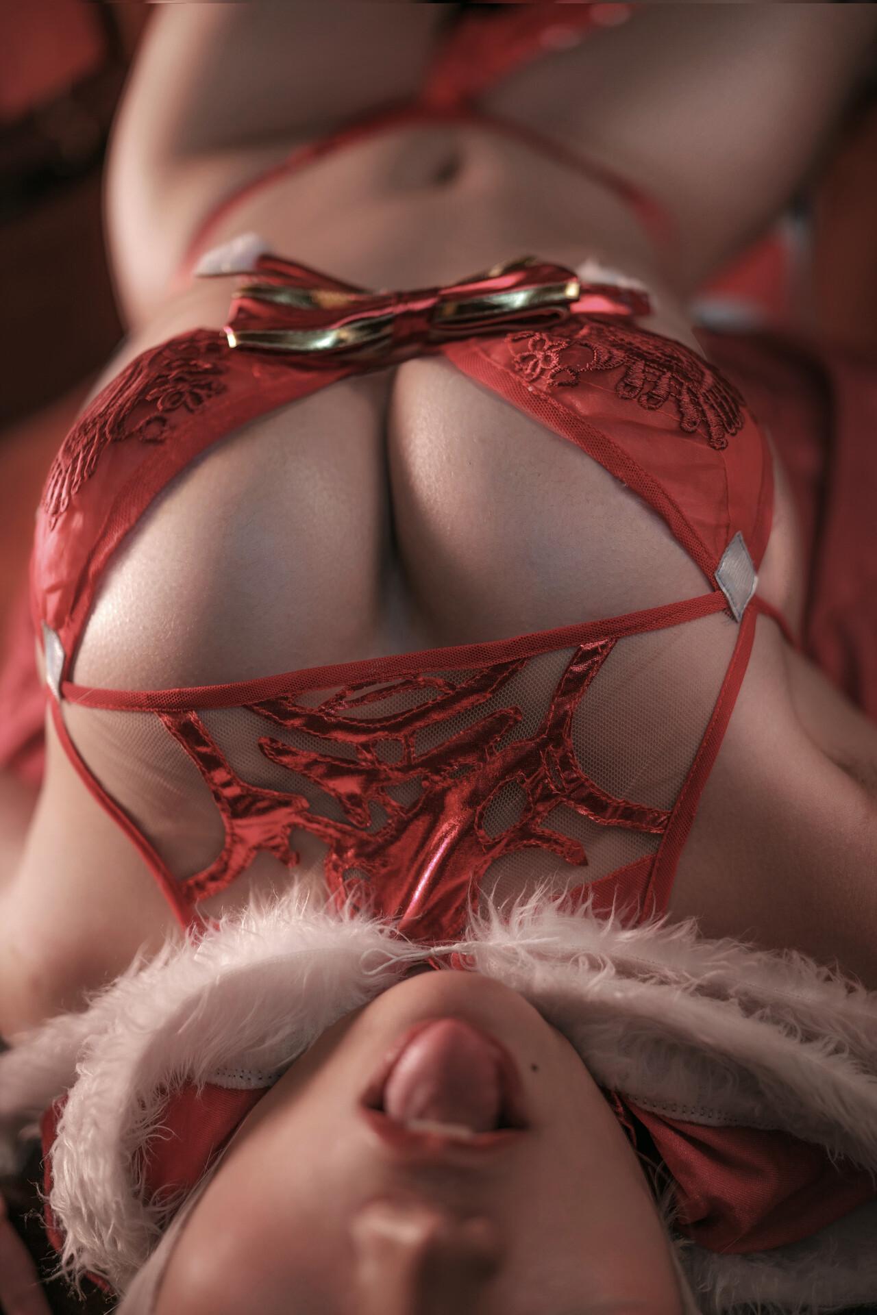2B COSPLAY 红色内衣
