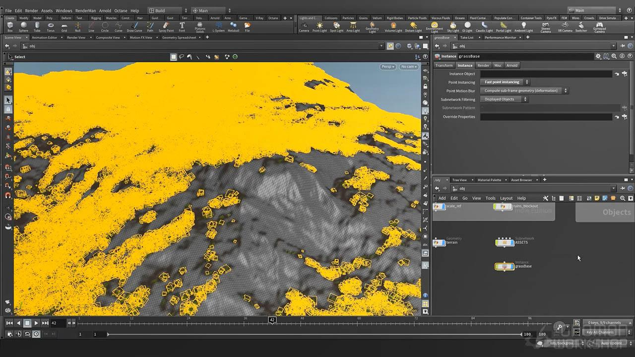 Creating Procedural Environments in Houdini - Houdini程序化环境场景教程
