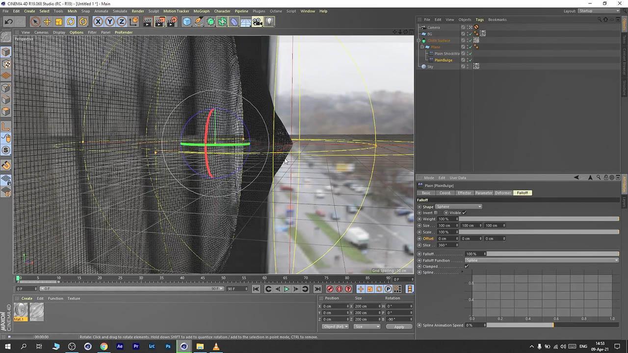 VFX for Beginners using Cinema 4D – Breaking Glass in 3D - C4D玻璃破碎特效教程