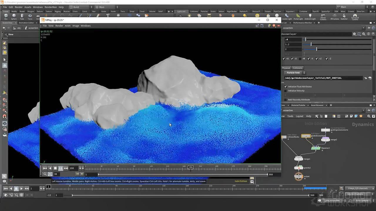 Introduction To The Houdini Ocean Toolset - Houdini海洋特效模拟教程