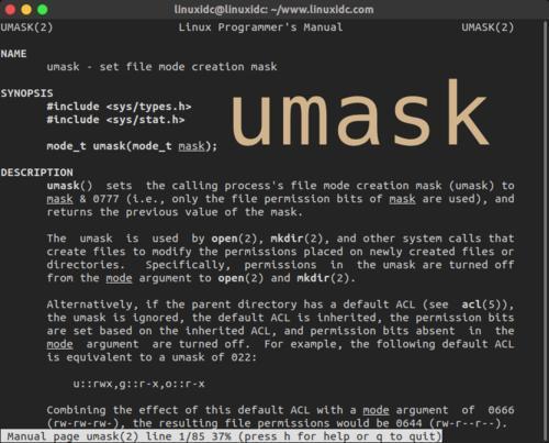 Linux系统umask详解